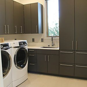 new construction remodel laundry room by CA McCarty Construction